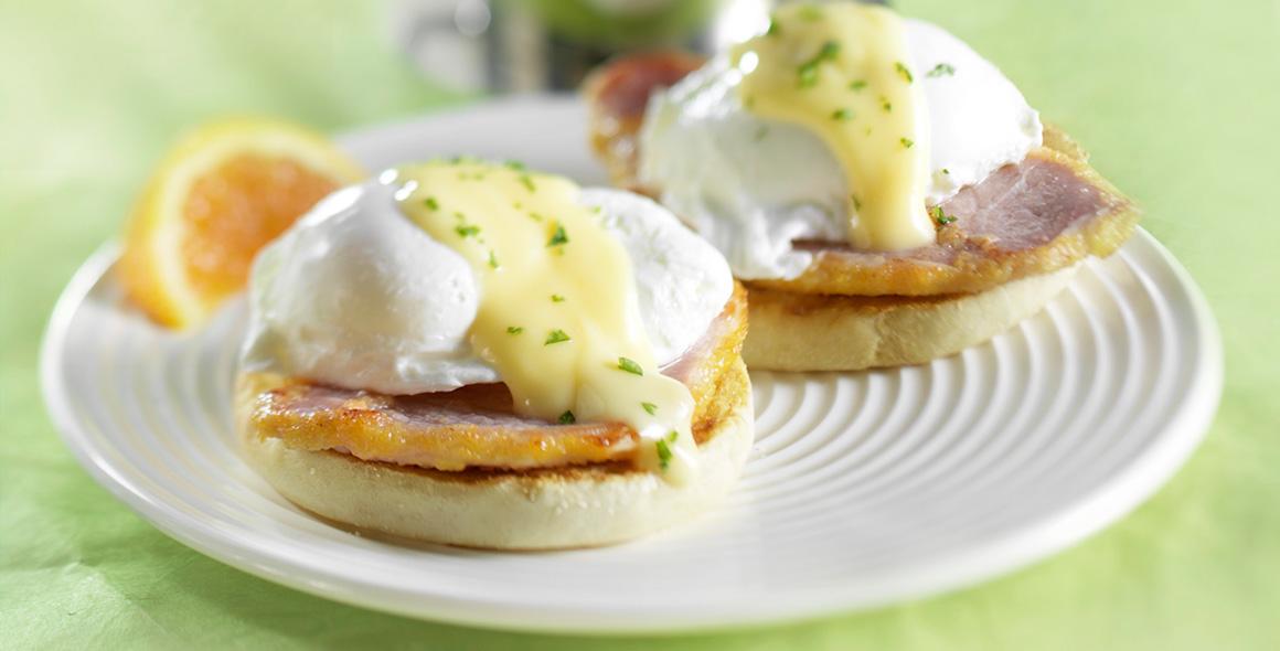 banner brunch eggs benedict