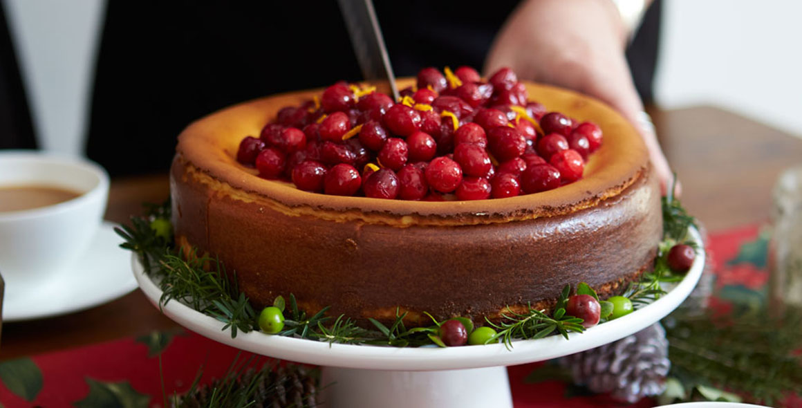 cranberry cheesecake homepage banner