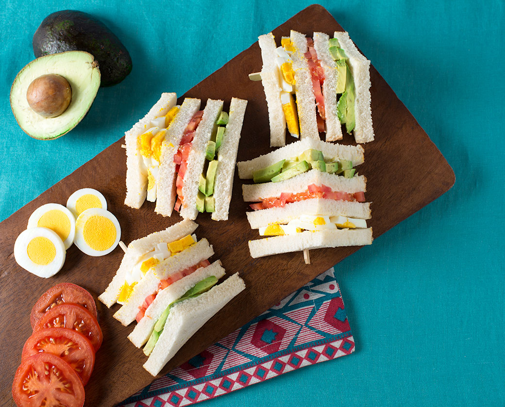 Peruvian Triple Sandwiches Sandwichs triples peruviens