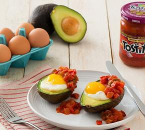 Baked Avocado Egg withTostitos CMS