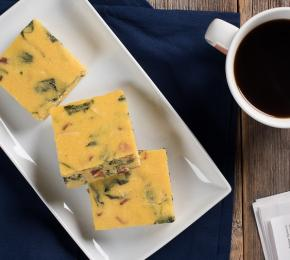 Baked Bacon and Kale Polenta Squares CMS