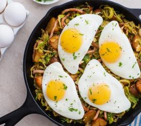 Brussels Sprouts and Potato Hash CMS