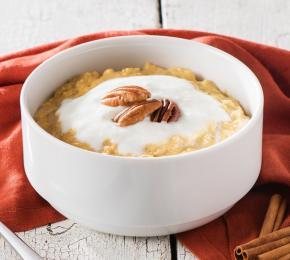 Creamy Pumpkin Spice Oatmeal Bowl CMS