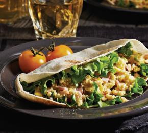 Ham Brie Egg Pitas