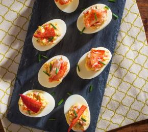 Lobster Devilled Eggs CMS