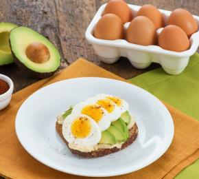 Open Faced Egg Sandwich with Hummus and Avocado CMS