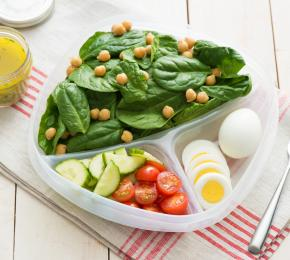 Pack and Go Salad with Hard Cooked Eggs 017