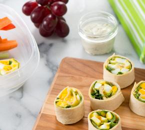 egg salad pinwheel wrap