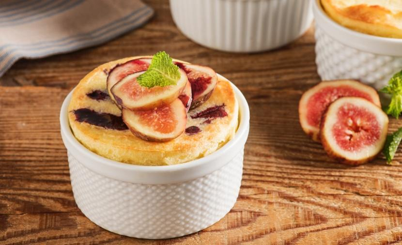 Goat Cheese Soufflé with Figs