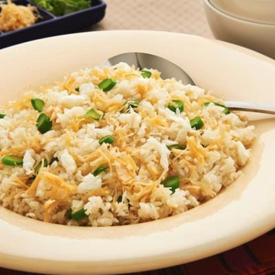 Billionaire fried rice with egg whites and shredded conpoy CMS