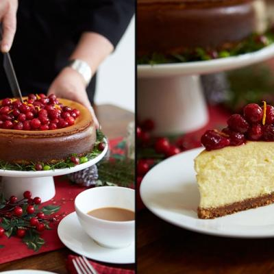 Cranberry Gingerbread Cheesecake CMS