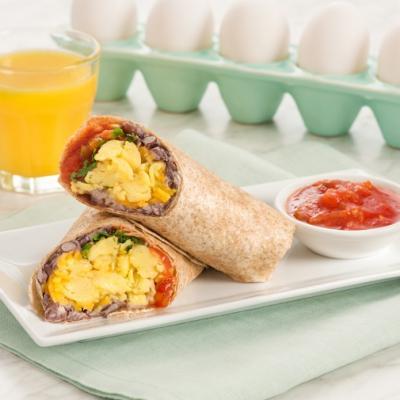 Egg and Bean Burrito CMS