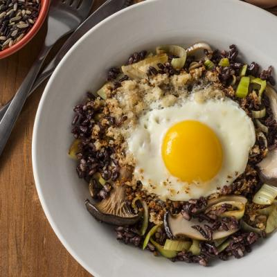 Mushroom Fried Rice with Crispy Egg CMS