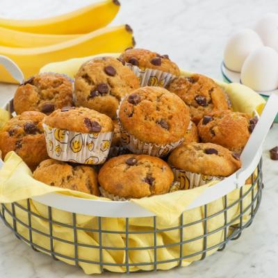 One Bowl Banana Chocolate Chip Muffins CMS