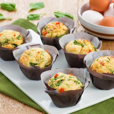 Savoury Muffins with Spinach Tomato and Feta Cheese CMS