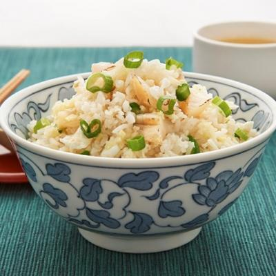Scallop and egg white fried rice flavored with ginger CMS