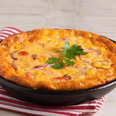Spicy Chorizo and Tomato Frittata with Pepper Jack Cheese CMS