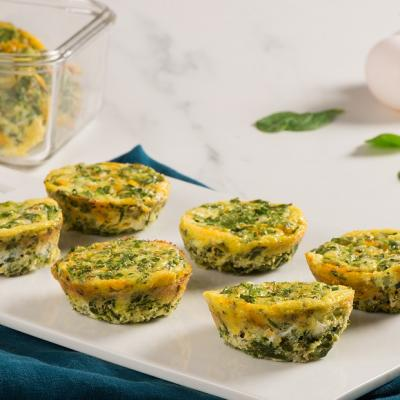 Spinach and Cheese Muffin Tin Frittatas CMS