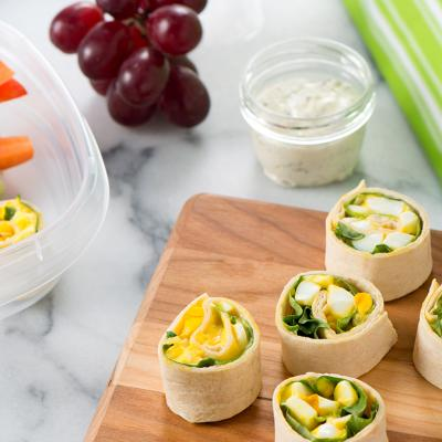 egg salad pinwheel wrap