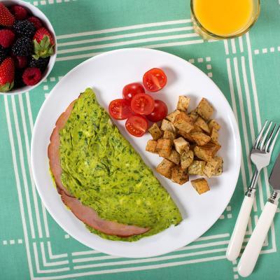 green eggs ham omlette 019