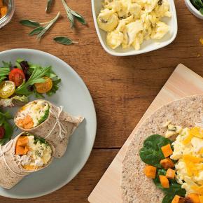 Leftover Turkey Squash Scrambled Egg Wrap
