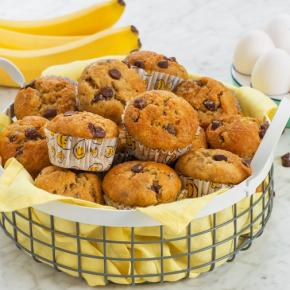 One Bowl Banana Chocolate Chip Muffins CMS