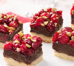 Chocolate Cranberry Shortbread BarsWEB