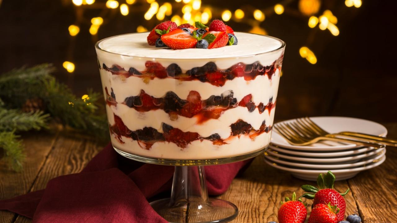 Watch Strawberry Liqueur Trifle Recipe video