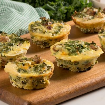 Kale and Sausage Frittata Cups how to mainCMS