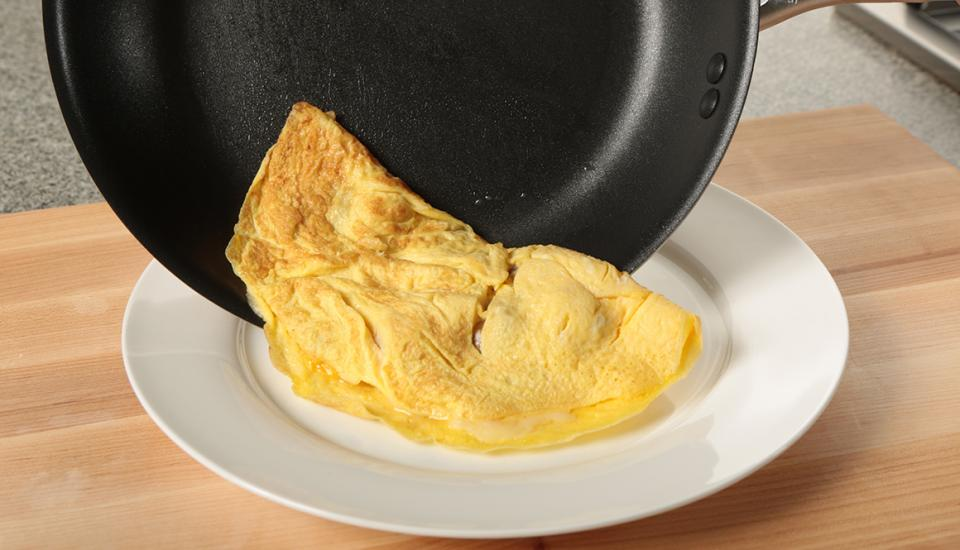 Image result for putting an omelette on a plate