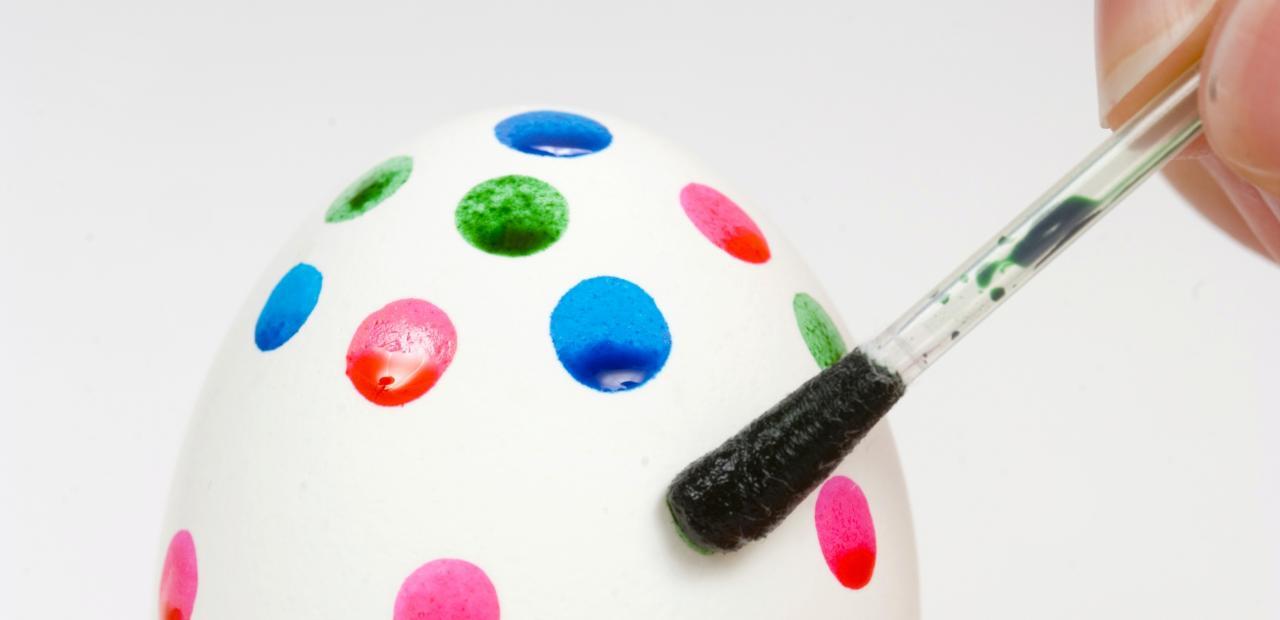 Acrylic painted egg