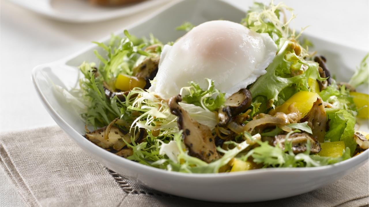 Wild Mushroom Salad with Poached Egg2