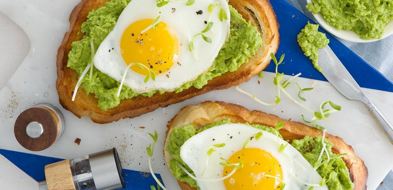 Spring Pea and Egg Toast