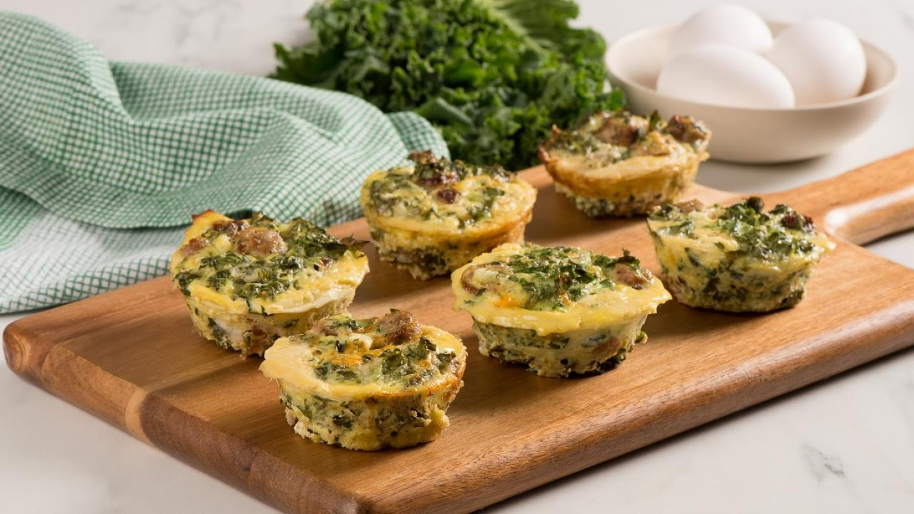 Kale and Sausage Frittata Cups CMS