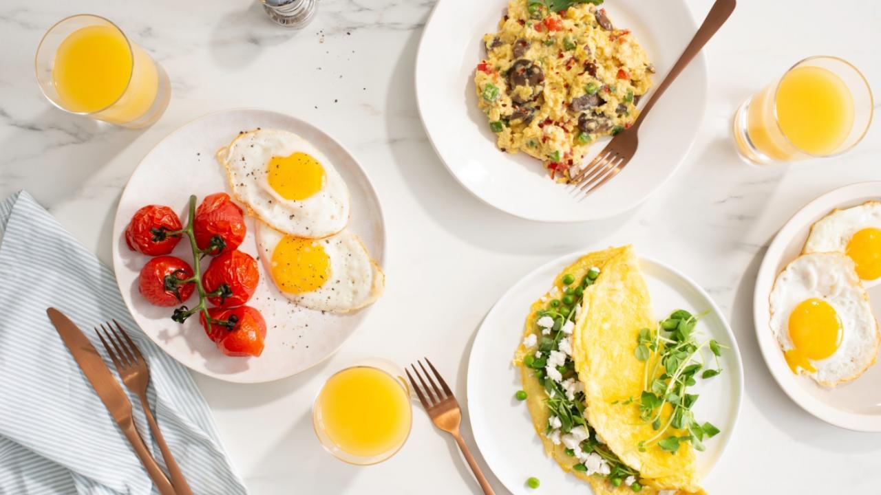 egg breakfast spread