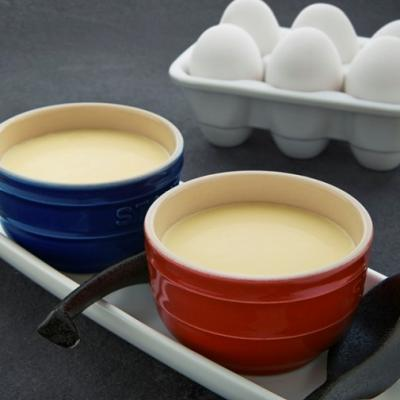 Boiled sweetened milk swirled with egg rainbow CMS