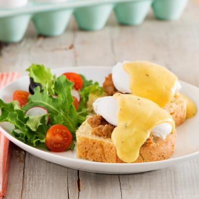 Cajun Eggs Benedict CMS
