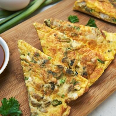 Chiu Chow egg omelette with diced oyster CMS