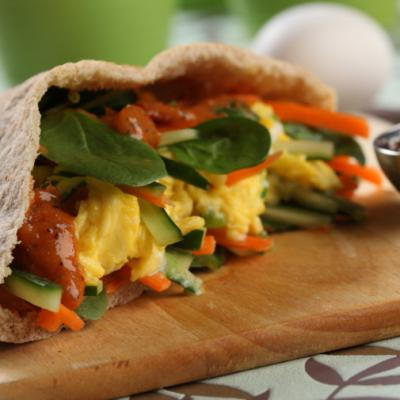 Curried Egg Pita