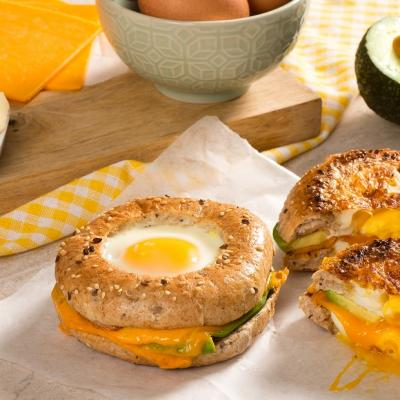 Egg Avocado and Bagel Egg in a hole CMS2