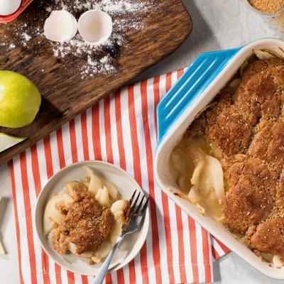 Gingerbread Pear Cobbler CMS