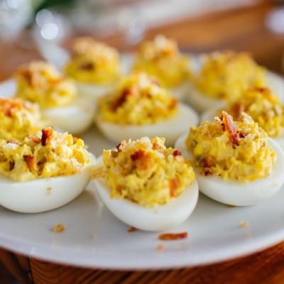 Gourmet Bacon Devilled Eggs CMS
