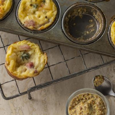 Ham and Swiss Mini Yorkshire Pudding CMS