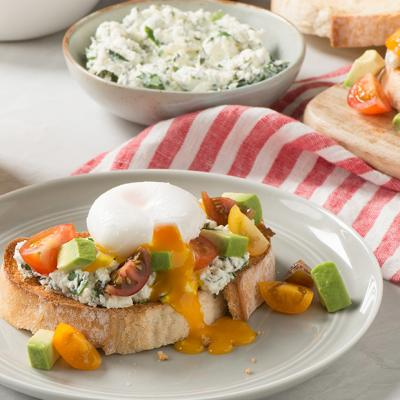 Herbed Ricotta and Poached Egg Tartine