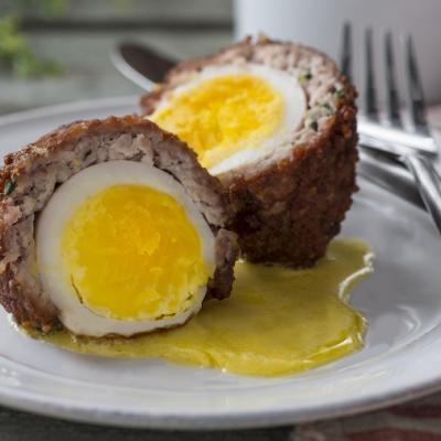 Herbed Scotch Egg with Garlic Aioli CMS