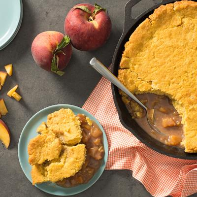 Late Summer Peach and Buttermilk Cornbread