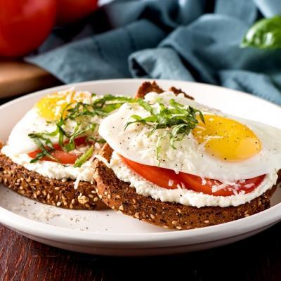 Ricotta Toast with Fried Egg CMS