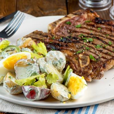 T Bone Steak and Summer Potato Salad CMS