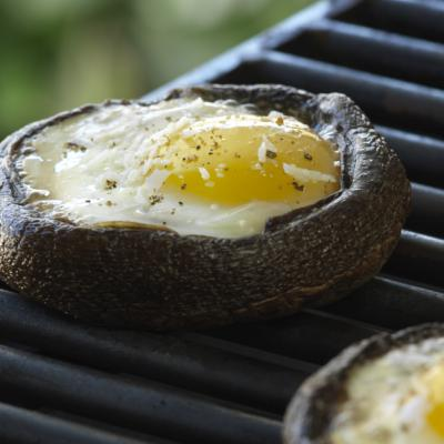 bbq portobello egg