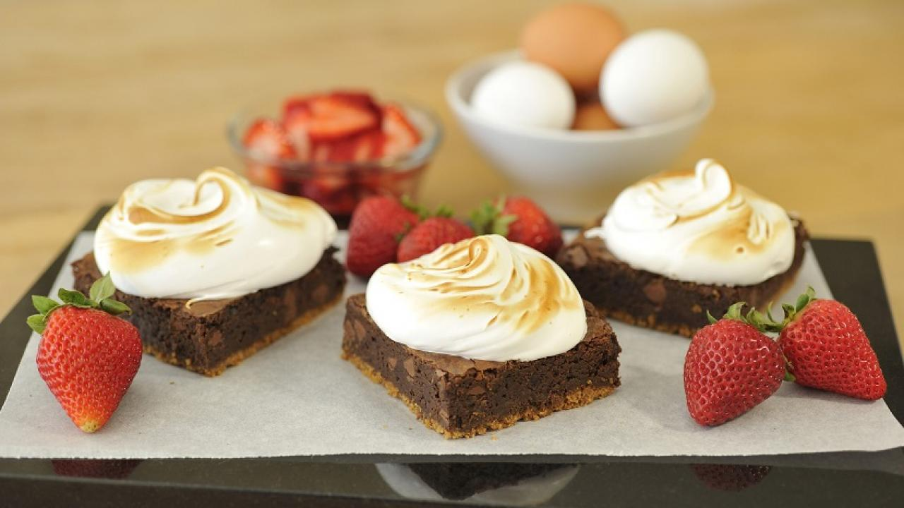 chocolate brownie s mores recipe eggs ca